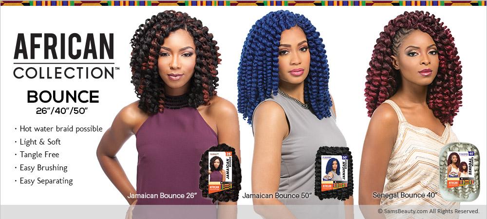 "Sensationnel Synthetic Hair Crochet Braids African Collection Jamaican Bounce 26"" - SamsBeauty"
